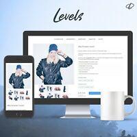 LEVELS BLUE | Template 2020 RESPONSIVE Auktionsvorlage Ebayvorlage Vorlage HTML