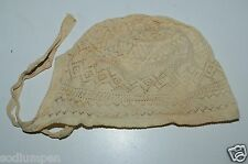 CUTE Antique Circa 1900s Victorian Lace Baby Girls Bonnet Ornate Toddlers RARE