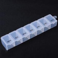 3pcs weekly pill travel box tablet holder medicine dispenser organiser white