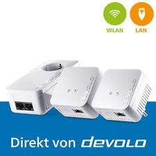 devolo dLAN 550 WiFi, 3 Powerline Adapter, Mesh WLAN Verstärker, 500 Mbps