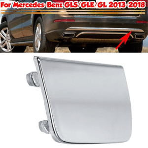 Chrome ABS Rear Bumper Tow Hook Cover Cap For Mercedes-Benz GLS GLE GL 2013-2018