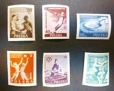 POLAND STAMPS MNH Fi790-5A Sc699-4imp Mi934-9B - Youth Olympic Sports, 1955, **