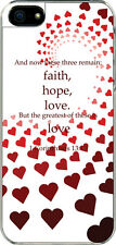 iPhone 5 Graduated Heart 1 Corinthians 13:13 Designed Sticker on Hard Case Cover
