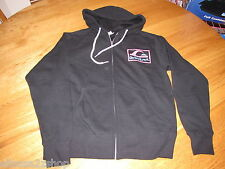 Men's Quiksilver jacket hoodie zip up coat S Electro Buzz Black aqyft00066