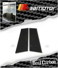 Real Dry Carbon Fiber Door Pillar Panel Decal Covers for Mazda RX8 RX-8