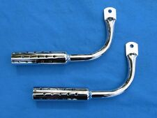 Bicycle Low Rider Gangster Mufflers in Chrome - New