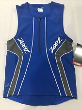ZOOT - Men's Performance Tri Tank - Triathlon - Blue Graphite Small S NWT New
