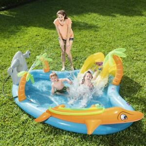 Cute interesting Inflatable Marine Ball Pool With slide and ball Automatic water