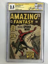 Amazing Fantasy #15 CGC 2.5 RARE SIGNATURE SERIES!!! by Stan Lee!!!  Trimmed