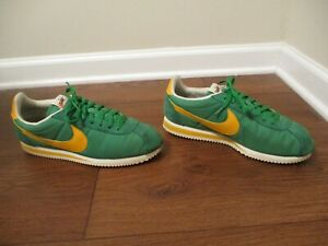 Used Worn Men's Sz 10.5 Wmns Sz 12 Nike Classic Cortez Nylon Shoes Oregon Unisex