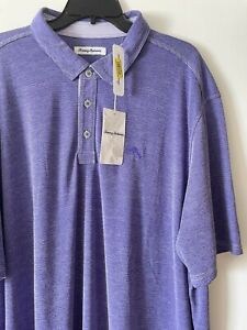 Tommy Bahama Men's Paradiso Cove Polo Shirt Sz 2XLT Prism Violet NWT