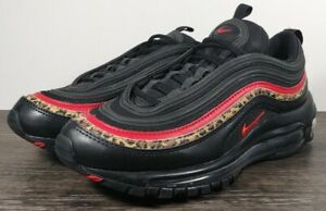 Nike Air Max 97 'Leopard Pack' Women's Size 7 Running Shoes BV6113-001 Black/Red