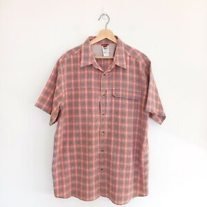 The North Face Shirt Size XL Mens Plaid Check Short Sleeve Button Up Top