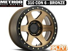 METHOD RACE WHEELS 310 CON 6 BRONZE | 17 X 8.5 | 0 OFFSET | OFFROAD 4WD WHEELS