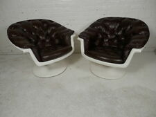 Pair Of Mid-Century Arm Chairs w/ Tulip Base P9176405NZ