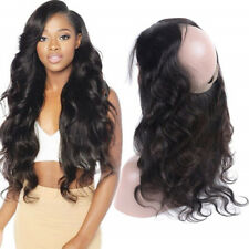 14'' Indian Remy Human Hair Body Wave 360 Lace Frontal Closure With Baby Hair