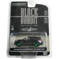 GREENLIGHT 28010 F 2020 FORD POLICE INTERCEPTOR CAR SUV 1/64 BLACK BANDIT Chase
