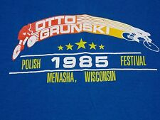 VTG 80s OTTO GRUNSKI Polish Festival bike cycling race team T SHIRT tagged XL