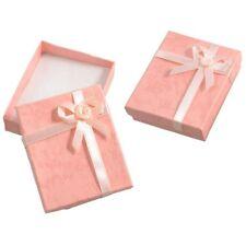 2 x boîtes/écrins roses Pour présenter des cadeaux/bracelet/boucle d'oreille