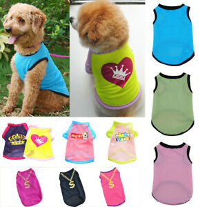Pet Clothes Small Dog Cat Puppy Mesh Vest T Shirt Summer Cool Breathable Apparel