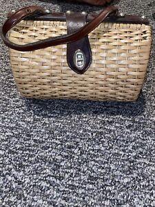 wicker basket purse