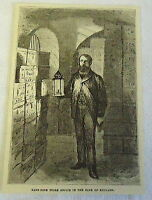1882 magazine engraving ~ The Bank Note Store Office of the BANK OF ENGLAND