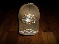 AMERICA 2nd AMENDMENT PREMIUM OILSKIN 6 PANEL CAP EMBROIDERED HAT