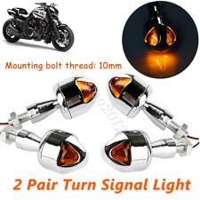 4PCS MOTORCYCLE LED TURN SIGNAL LIGHT MOTORBIKE DIRT BIKE BRAKE INDICATOR AMBER