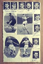 Multi Signed Autograph Book Page: Liverpool FC 1946-1950 - Paisley / Taylor etc.