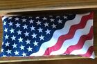 Vintage Americana July 4th 4th July Wreath Red White Blue Flag Pillow Tapestry