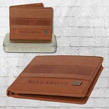 Billabong Echt Leder monedero phoenix Wallet marrón de cuero monedero Cartera