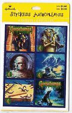 NEW pack RL Stine GOOSEBUMPS Hallmark Stickers! 4 Sheets 1995 MUMMY Wolf