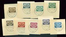 GENERALGOUVERNEMENT, 1940 Dienstmarken 16-24 gestempelt, Briefstücke, (5393)