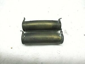 American Flyer, BRASS AIR TANKS, Standard Gauge  1 Pair no cracks with End Caps