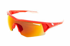 SPY Screw Sunglasses Polished Red Frame Bronze w/ Red Spectra Lens