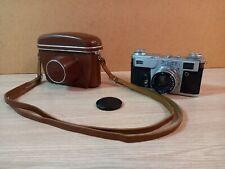 Old camera Kiev 4A, lens Jupiter 8M  2/50 USSR.