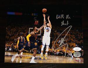 "Stephen Curry ""With the Shot"" signed Warriors 8x10 signed photo JSA FANATICS COA"