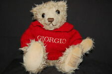 "Brown Teddy Bear Giorgio Beverly Hills Sweater  10"" Plush Lovey Stuffed Animal"