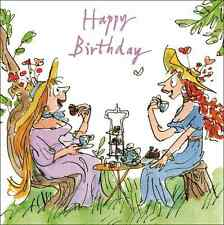 Quentin Blake High Tea Happy Birthday Greeting Card Square Humour Range Cards