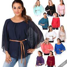 Hüftlange 3/4 Arm Damenblusen, - tops & -shirts aus Viskose-Blusen