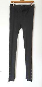 Free People Intimately Striped Knit Black Leggings Size M