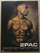 2PAC 2 Pac Rare 2001 PROMO POSTER for Until End Time CD 18x24 Tupac Shakur USA