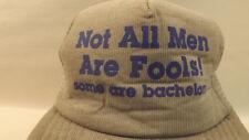 VTG Not All Men Are Fools Bachelor Party Mesh Snapback Hat/Cap NOS Trucker Gray