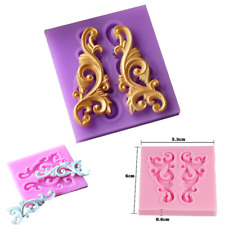 3D Relief Silicone Fondant Mold Chocolates Cake Border Decoration Sugar Mould