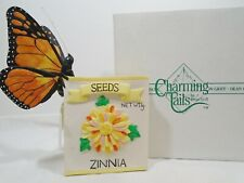 Fitz & Floyd ~ Charming Tails BUTTERFLIES SMELLING ZINNIAS 89/606