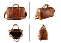 20 Zoll Reisetasche Leder Sporttasche Weekender Duffle Tasche Gepäck Handgepäck