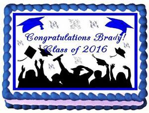 Graduation Edible Cake Topper  Licensed - 1/4 Sheet