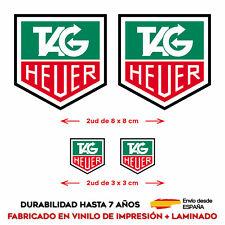4 X VINILO ADHESIVO PEGATINA STICKER TAG HEUER COCHE RACING CASCO MOTO RALLY GP
