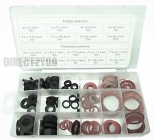 141pc Sealing Washers Rubber Fibre O Ring Seals Tap Assorted Set Shower Hose