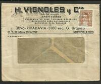 ARGENTINA 1937 COVER W/ADVERTISING FRONT & BACK, CARS, PLUGS, BRAKE VF